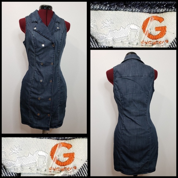 ff044a4e00 G by Guess Dresses   Skirts - G By Guess woman sleeveless Denim Bodycon  Dress